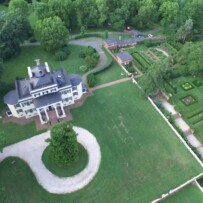 Collection of Aerial Imaging at Oatlands Historic Home and Gardens